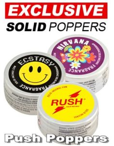 Solid wax based Poppers